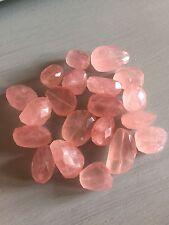 Rose Quartz Large Faceted Nugget Bead (per bead) Semi Precious Gemstone
