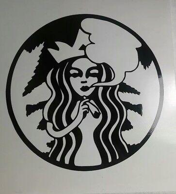 Starbucks Smoking Cannabis Logo Parody 420 Marijuana Weed 4 Decal Sticker Ebay