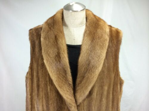 Warm Out Vest Free S Lady Luxurious Mink Golden Extreme Shipg Female U Real Let p7wtt1UqO