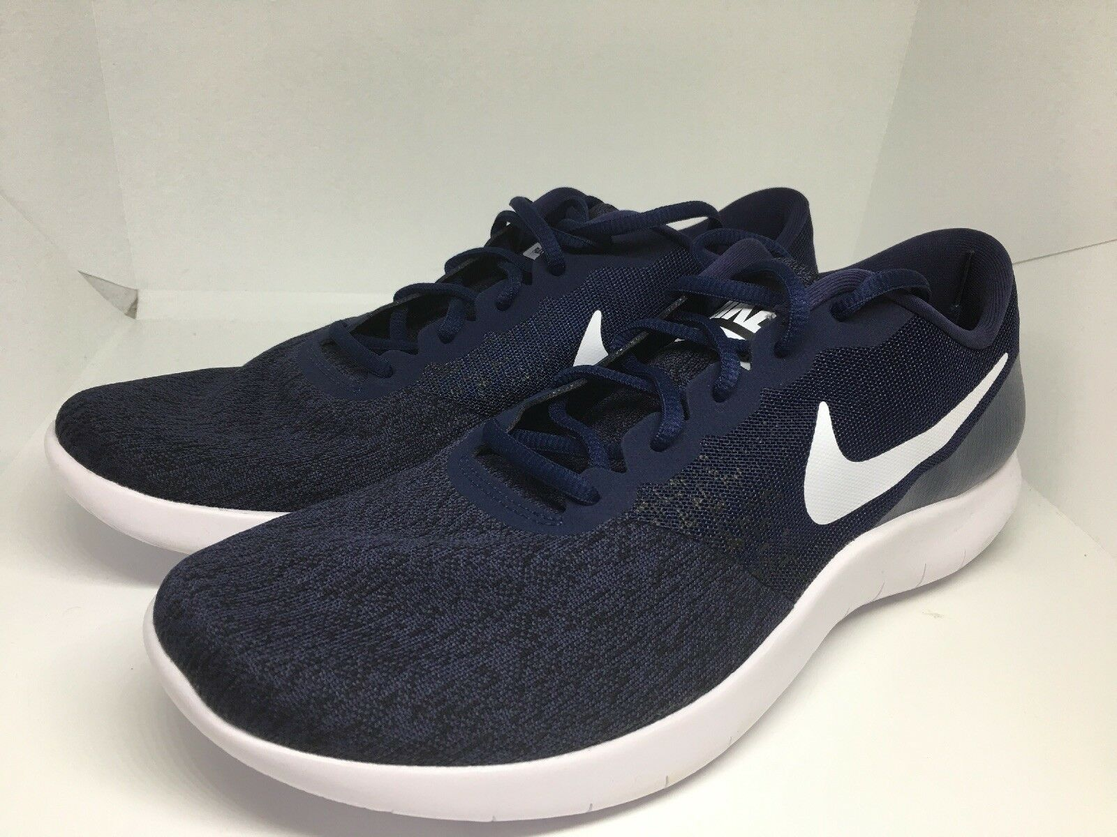 Nike Flex Contact Running Men's Men's Men's shoes Size 13 Navy bluee White 908983 403 f92aa1