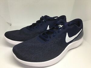 774b82f9943d8 Nike Flex Contact Running Men s Shoes Size 13 Navy Blue White 908983 ...