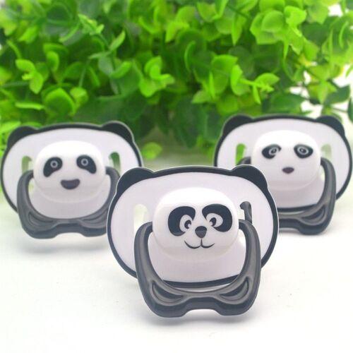Newborn Baby Cute Panda Teether Nipple Dummy Pacifier Soother Toddler Nipples