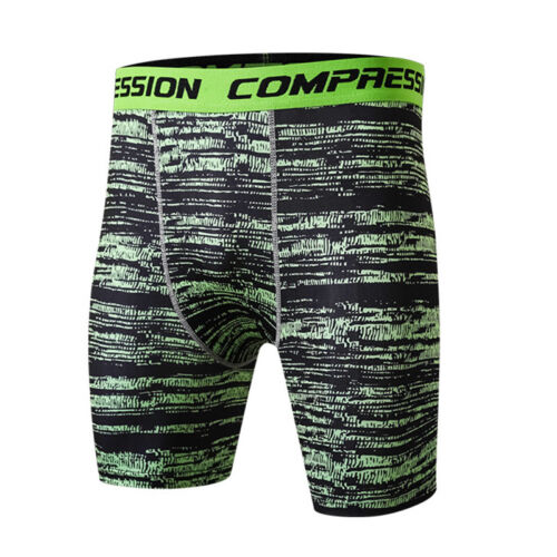 Mens Workout Tights Sports Boxer Brief Running Jogger Camo Compression Spandex