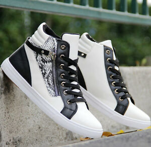 High Top New Men 's Shoes Fashion Breathable Casual Sneakers running Shoes @
