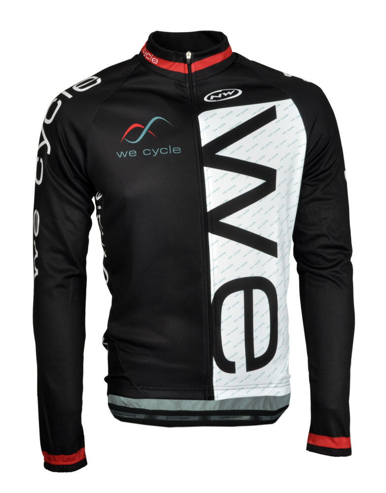 We Cycle Team Edition II Bicicletta Inverno Maglia Lunga NeroBiancoRosso by northwav