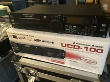 American Audio Ucd-100 Single DJ CD USB Mp3 Player Tested and Working W Remote