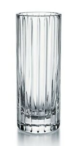 Signed-Baccarat-France-Harmonie-French-Cut-Crystal-Art-Glass-Vase-HED