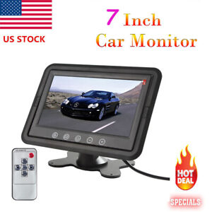 US-7-Inch-Ultra-Thin-TFT-LCD-Color-2-Video-Input-Headrest-Car-Rear-View-Monitor