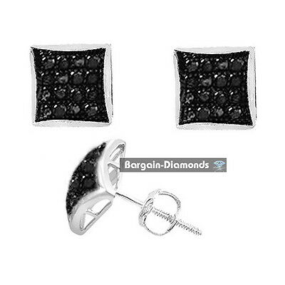 Black Diamond gunmetal black Kite Stud earrings .10-carat 925 screwback