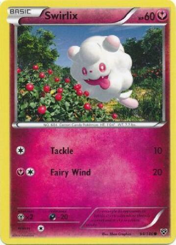 4x Swirlix Common NM XY Pokemon Base Set 94//146