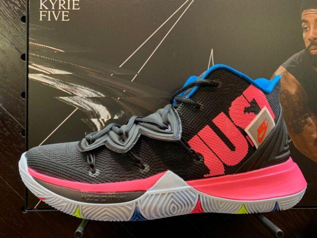 quality design 8d31d 477a7 Nike Kyrie Irving 5 V Just Do IT Black Volt Pink AO2918-003 PS GS Men Sz  11C-13