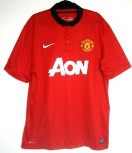 sale retailer 31766 eefa9 Details about Manchester United Shirt 2013/2014 Home 13/14 XL LARGE 45