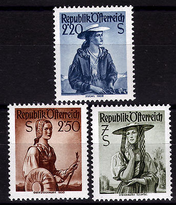 Devoted Österreich 978-80 ** Österreich Ab 1945 Freimarken Trachten 1952 To Produce An Effect Toward Clear Vision
