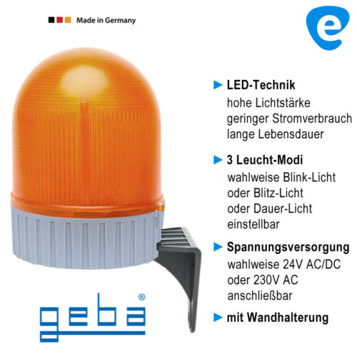 Garagen Tor Antrieb 24V f LED Warnleuchte Warnlicht Warnlampe Blinklampe 230V