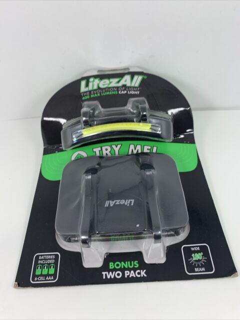 1 Promier 400 Lumen COB LED Cap Light Hat Wide Beam 2 Mode With Batteries for sale online
