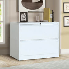 White Metal Lateral File Storage Cabinet With2lockable Drawersampanti Tilt Structure