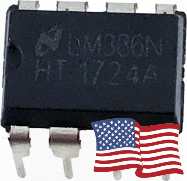 Low Voltage Audio Power Amplifier IC LM386 0.25W DIP-8 Amp Low Distortion