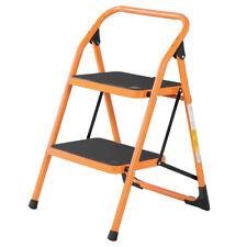 Portable Anti Slip 2 Step Ladder Folding Step Stool 330lbs Max Capacity Yellow