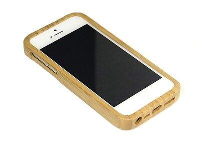 T4c Echtholz Bambus Handy Cover Für Iphone 5 / 5s - Holz Schutzcover Schutzhülle Tropf-Trocken