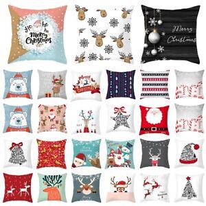 Weihnachten-Kissenbezug-Kissenhuelle-Kissen-Huelle-Kopfkissenbezug-Home-Dekor