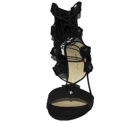 Doppio Accessori Art Nero Sandali Borchie Made st9098 La Stringhe In Italy Tacco xA7BBZn1