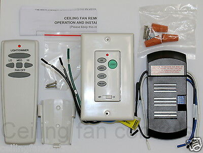 Universal Harbor Breeze Ceiling Fan Remote And Receiver Kit Plus Wall Remote Ebay