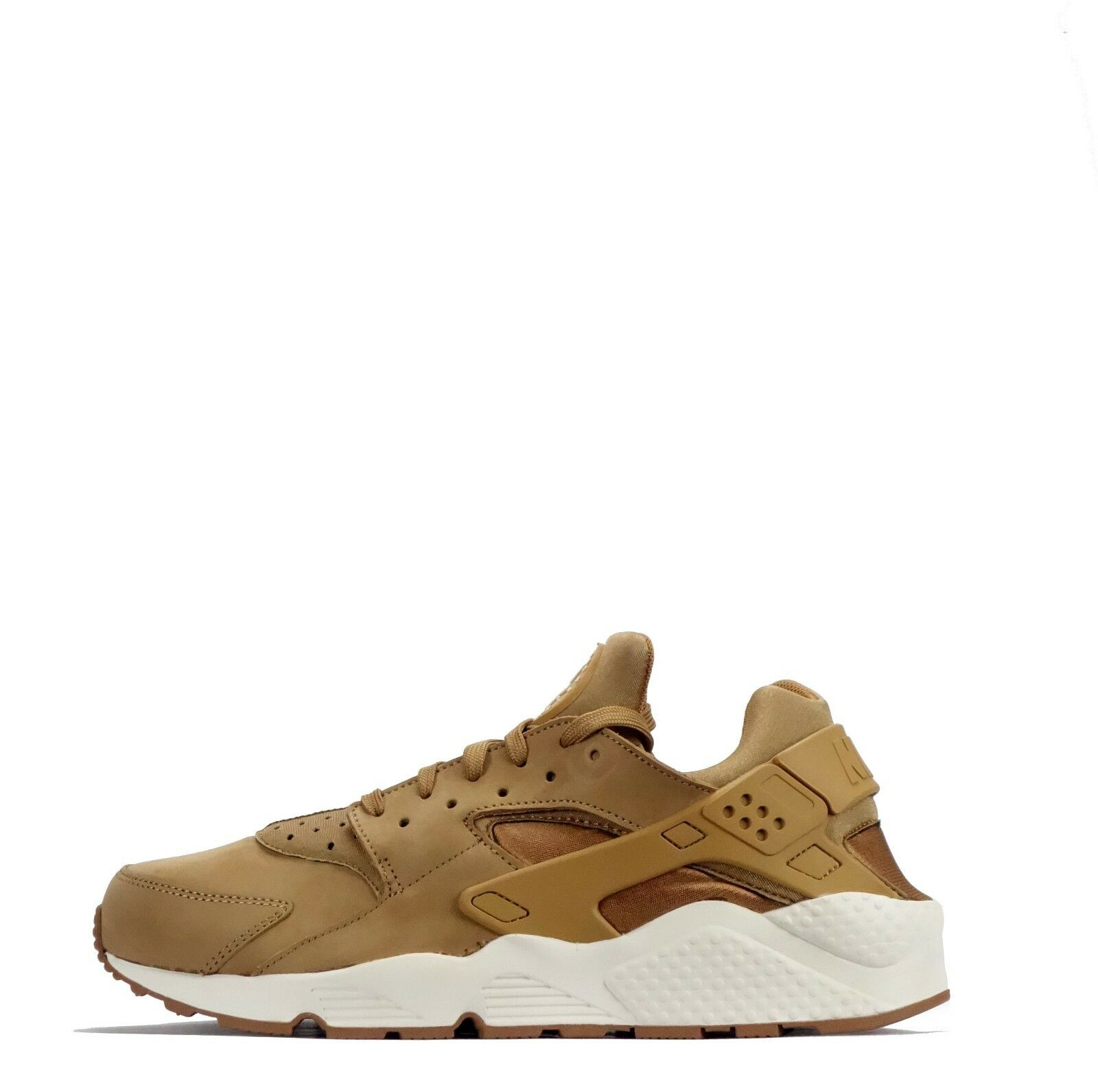 Nike Air Huarache Smooth Nubuck Casual Style Men's Shoes in Flax Brown