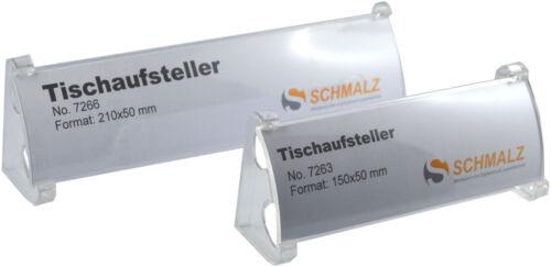5 x Edles Tisch-Namensschild  Display Tischaufsteller glasklar WerbeschildAcryl