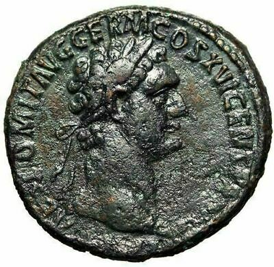 "Scales"" 92-94 Ad Ric 756 Vf Domitian Ae As ""moneta Avgvsti Sc Moneta Coins & Paper Money"