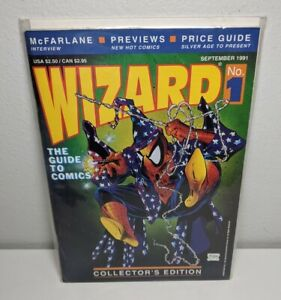 Wizard The Guide to Comics Comic Book No 1 1991 Collector's Edition Spider-Man