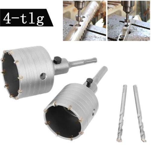 4-tlg Satz Bohrkrone Lochsäge Dosenbohrer Kreisschneider Stahl für Bohrhammer EY