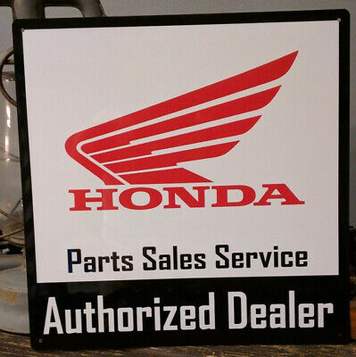 Honda Authorized Dealer parts sales 12x12 sign service vintage advertising 50003