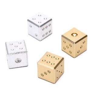 16mm-Metall-Wuerfel-Aluminium-Club-Bar-Trinken-Spielen-Spiel-Werkzeug-Gold-Si-M0