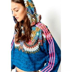 e92d7470b87 S/M adidas Originals Women's BORBOMIX Cropped HOODIE by Farm Brasil ...