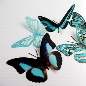 25-Pack-Butterflies-Turquoise-5-to-6-cm-Cakes-Weddings-Crafts-Cards