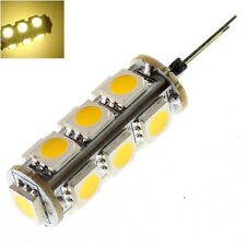 2Pcs G4 13 SMD 5050 LED Warm White 3500K Cabinet RV Marine Light Lamp Bulb