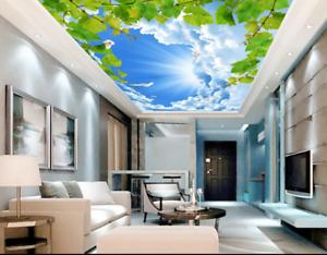 3D Green Vine Sky Bird 77 Wallpaper Mural Wall Print Wall Wallpaper Murals US