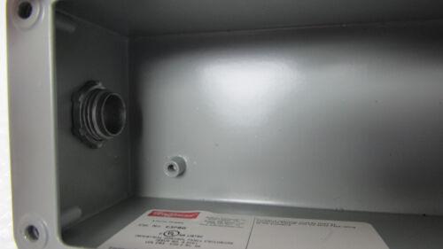 HOFFMAN E3PBG 3 PUSH BUTTON ENCLOSURE W//SPRECHER+SCHUH D7-X10,D7-X01 CONTACTS