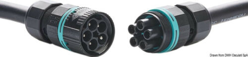 Steckverbindung 2//3//4-polig fliegende Steckverbindung Mini für Amaturenbrett