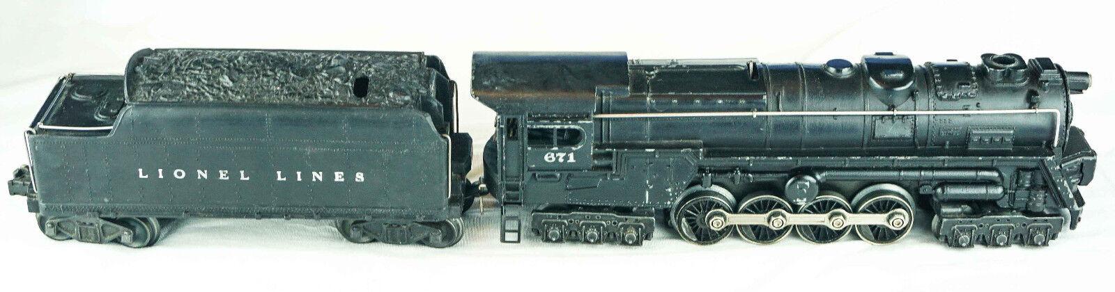Tren Lionel  671 Locomotora y Caol tender-Excelente Estado-coleccionable