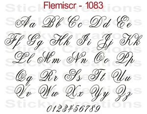 fancy letter fonts 1083 custom fancy script lettering customized vehicle 52186