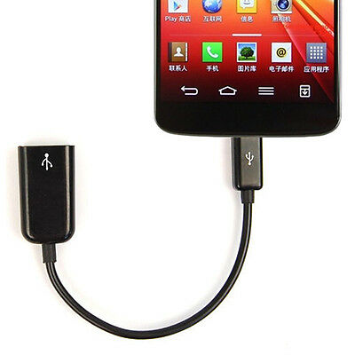 New Micro USB Host OTG Adapter Cable For Google LG Nexus 4/5 LG G2 D802