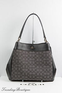 df8299a17ba1 Image is loading NWT-Coach-F57612-Lexy-Shoulder-Bag-Outline-Signature-