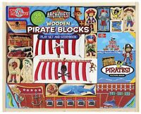 T.s. Shure Archiquest Wooden Pirate Blocks Play Set And Storybook , New, Free Sh on Sale