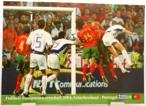 POR Finale GRI vs Fußball Europameisterschaft 2004 Fan Big Card Edition A95