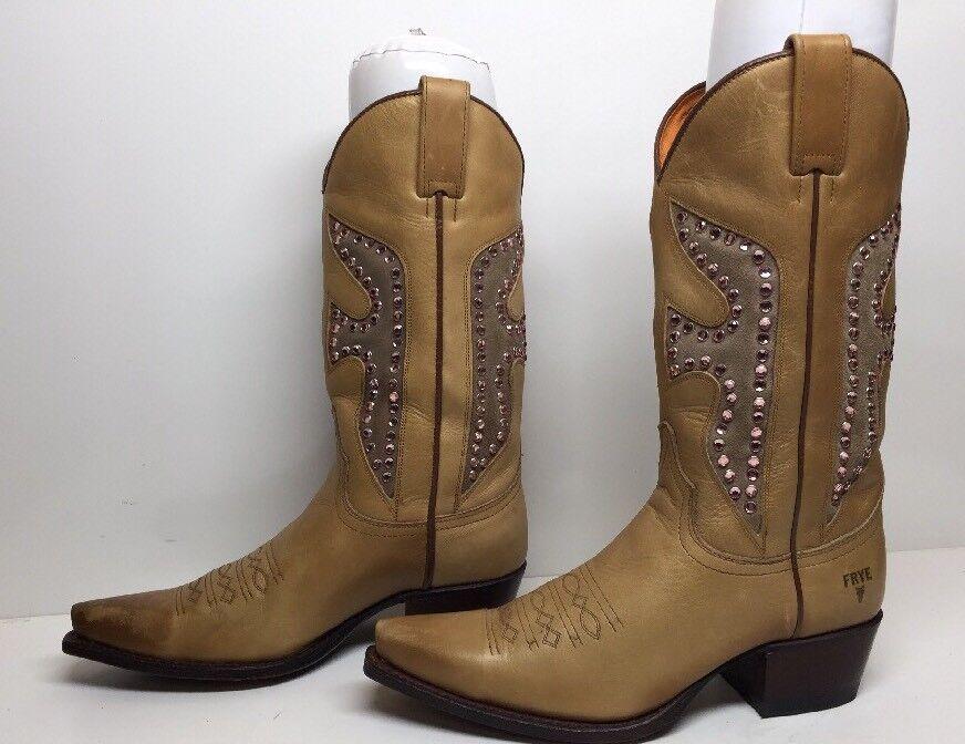 T Para Mujeres Mujeres Mujeres botas de Vaquero Frye SNIP Puntera Marrón Talla 8 M  tienda de venta