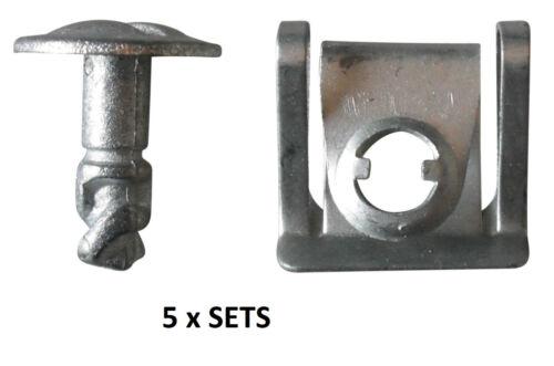 Under Engine Cover Undertray Fitting Clip Kit Screw Metal Set Audi VW Skoda
