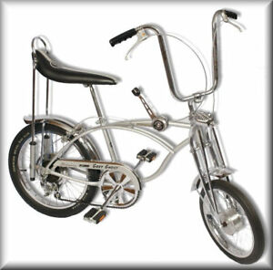 Vintage-60s-Schwinn-Stingray-GREY-GHOST-Bicycle-Flat-Refrigerator-Magnet-READ