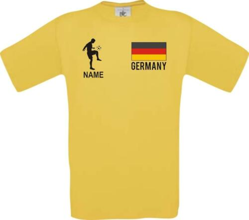 Enfants-shirt fussballshirt Germany Allemagne Avec Votre Demande Nom Imprimé