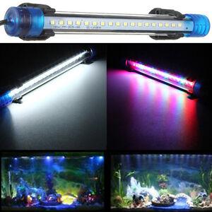 20/30/40/50cm White/RGB LED Aquarium Fish Tank Light Bar Submersible Lamp